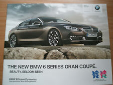 BMW 6 Series Gran Coupe range brochure 2011 ed 2