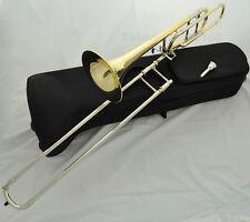 Prof. JINBAO Gold Slide Tuning Tenor Trombone Bb/F key Cupronickel pipe