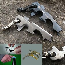 EDC Stainless Steel Tactical Multi-functional Pocket Tool Key Ring Keychain
