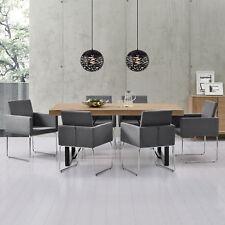 [en.casa] MESA de Comedor Con 6 sillas roble Whitewash 180x100 gris oscuro