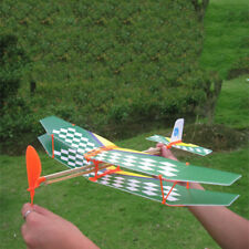 Funny Rubber Band Elastic Airplane Model Powered Glider Flying Plane Kid Toy New