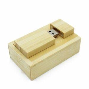 Wooden Flash Drive USB 2.0 Pendrive 8GB 16GB 32GB Xmas Wedding Gift Custom LOGO