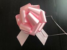 Lot 10 ct PINK Pull Bows Big Large 9 INCH Wedding Pew Gift Basket Baby Girl PINK