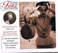 """DIE GROSSEN DEUTSCHEN TANZORCHESTER """"Bernhard Etté & sein Tanzorchester"""" NEU OVP"""