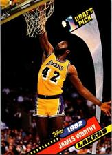 JAMES WORTHY 1992-93 Topps Archives #1 Draft Pick #2 ($0.75 MAX SHIP)