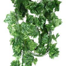 10pcs Guirlande Lierre Feuille Artificielle Plante Vert Pour Maison Jardin 2.35M