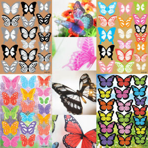 18pc Art DIY 3D Butterfly Wall Stickers Decal PVC Colorful Butterfly Home Decor