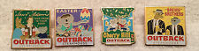 4 OUTBACK STEAKHOUSE PINS Easter07, Sam Adams,  Brews Bros,  Cherry Hill NJ