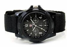 Mens Sport Watch Canvas Analog Quartz Waterproof Fahion Military Watches QW