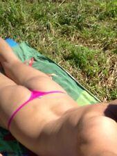 Pink String Thong Bikini Guys T-back Spandex Mini Underwear Sexy Men Micro Tanga