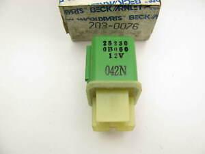 Beck Arnley 203-0076 Fuel Pump Relay For 1985-1993 Nissan - 25230-0B060