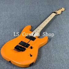 US Stock ST Electric Guitar Floyd Rose Bridge Maple Neck Black Hardware Orange