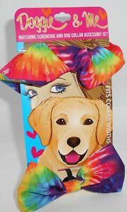 DOGGIE & ME Matching Scrunchie & Dog Collar Accessory Set New On Card Set 1