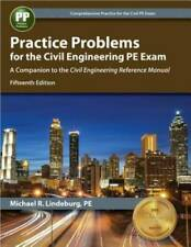 Practice Problems for the Civil Engineering PE Exam: A Companion to  - VERY GOOD