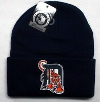 READ LISTING! Detroit Tigers HEAT Applied Flat Logo on Beanie Knit Cap hat