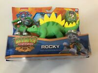 PAW Patrol Dino Rescue - Rocky  &  Stegosaurus With Mystery Figure NEW