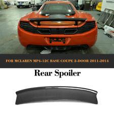 Fit for McLaren MP4-12C Coupe 11-14 Rear Trunk Spoiler Lip Wing Carbon Fiber