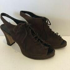 Womens Brown Suede Lace Up High Heel Shoes AU/US8.5 UK6.5 EUR39.5