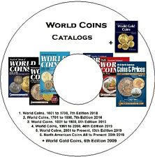 Gold Coins Catalog ▶ + 6 cat. of World Issues from 1601 to Present on DVD