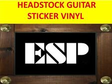 ESP WHITE HEADSTOCK STICKER GUITAR PRODUCT ON SALE UNTIL END OF STOCK