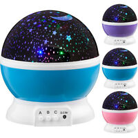 Romantic LED Starry Night Sky Projector Lamp Star Light Cosmos Master Birth Gift