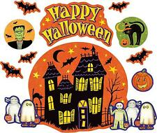 Set 10x sticker decal car bike halloween spooky kid horror  happy spooky