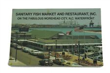 Sanitary Fish Market Restaurant Famous Tar Heel Hush Puppies Recipe Postcard