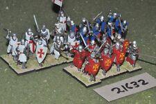 25mm medieval / spanish - 25 military order infantry - inf (21632)
