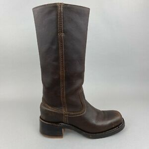 VTG FRYE CAMPUS 14L 77050 Distressed Riding Cowgirl Boots US7 UK4.5 - 5 Made USA