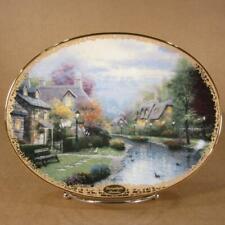 8 Thomas Kinkade Lamplight Village Collector Plates - Bradex Bradford Exchange