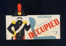 ALITALIA segna posto OCCUPIED carabiniere funny airline memorabilia leaflet aa