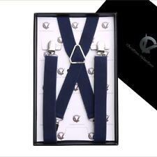 Boy's Braces Midnight Dark Blue X2.5cm Boys Suspenders Kids