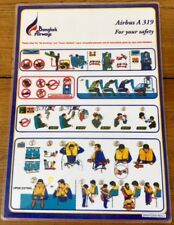 THAILAND bangkok airways AIRBUS A319 Safety card CONSIGNE SECURITE INSTRUCTION
