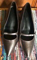 M&S Womens Stiletto Heel Party Shoes UK Size 6 Metallic Bronze Wide Fit BNWOB