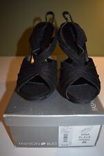 Women's Fashion Bug Black Heels NEW IN BOX  Size 9 M