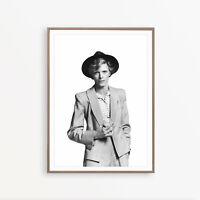 "Fabric Print Art Poster British Actor Rock Singer David Bowie 18x12 36x24 40x27/"""