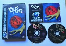 Deep Fear Sega Saturn Game UK Pal Complete with instruction Discs near Mint Rare