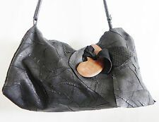 Opulent Containers Cross/Shoulder Bag Texture Leather Black Embellishment 16x9x9