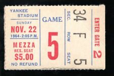 November 22, 1964 New York Giants Vs Pittsburgh Steelers Ticket Stub 44-17 Pit