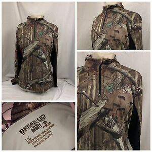 Mossy Oak Break Up Infinity Shirt Sz L Brown Hunting Base Layer New YGI V1-281