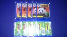 50 SEALED STICKER PACKS ANIMAL WORLD PANINI, TUTEN BUSTINA PACKET ZAKJE