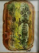 JOTA F - Original Abstract Painting by leading Cuban Artist