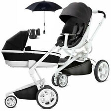 QUINNY MOODD BLACK IRONY PRAM / CARRY COT / PARASOL AND CUP HOLDER NEW