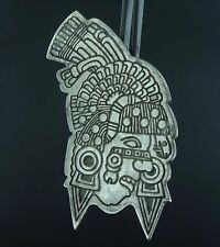 Rare INAH Sterling Silver Mayan Warrior Pendant Brooch DMNH Mexico 925 PS542