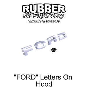 """1973 - 1982 Ford Truck 1978 - 1982 Bronco """"Ford"""" Hood Letters w/ Hardware"""