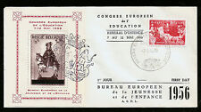 1944 BELGIEN BELGIUM WINTERHILFE ST. MARTIN BLOCK AUFDRUCK 1956 FIRST DAY COVER