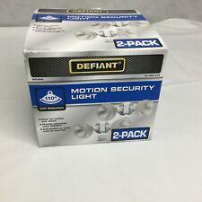 Defiant Motion Sensing Outdoor Security Light 110 Degree White 2-Pack New