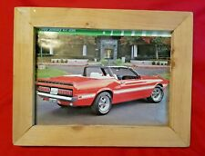 1969 Shelby GT 350 Car Wall Picture Wood Framed Art Print