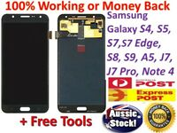 Samsung Galaxy S4 S5 6 S7 S8 S9 J7 A5 3 LCD Touch Digitizer Assembly Replacement