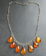 Antique Natural Baltic Amber Necklace 19.6g.